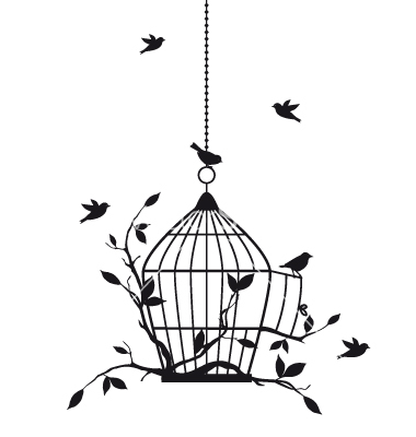 birds-with-birdcage-vector-1040828