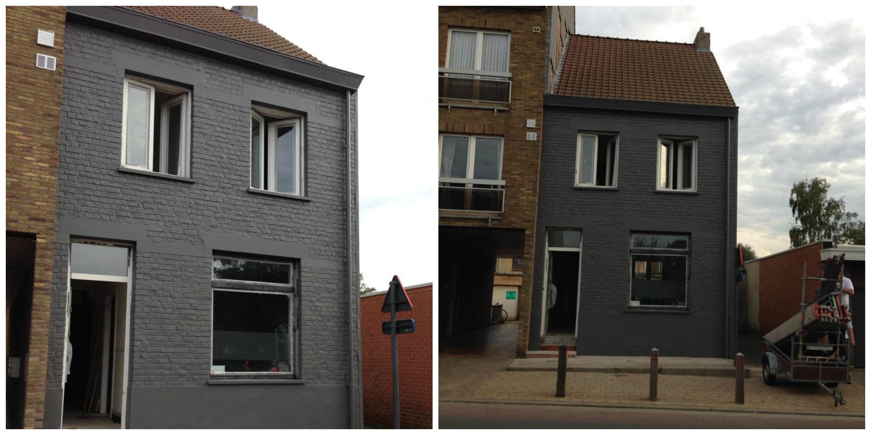Gevel3 - Voor na gerenoveerd huis ...
